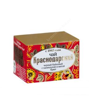 """Чай черный """"Краснодарский с 1947 г."""" с мятой и календулой, 50 г"""