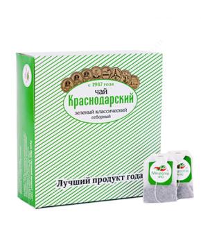 """Чай зеленый """"Краснодарский с 1947 года"""", 100 пак."""