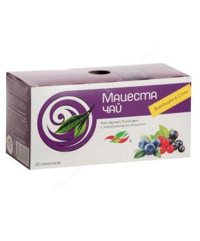 """Чай черный """"Мацеста"""" с натуральными ягодами, 20 пак."""