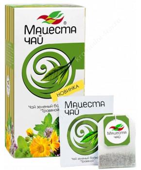 Чай зеленый байховый травяной Мацеста, 20 пак