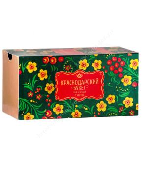 """Чай зеленый """"Краснодарский букет"""" с мятой, 25 пак."""
